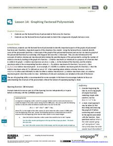 Graphing Factored Polynomials Lesson Plan