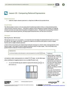 Comparing Rational Expressions Lesson Plan