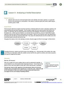 Analyzing a Verbal Description Assessment