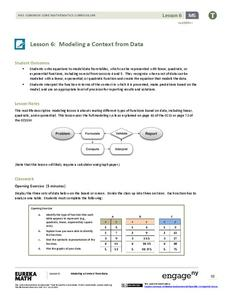 Modeling a Context from Data (part 1) Lesson Plan