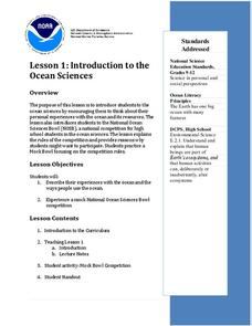 Introduction to the Ocean Sciences Lesson Plan
