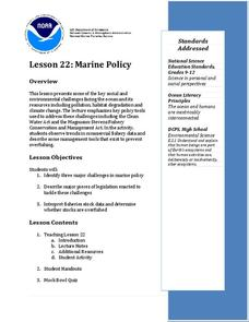 Marine Policy Lesson Plan