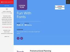 Fun With Fonts Lesson Plan