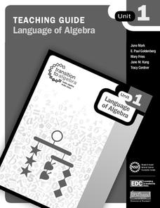 Language of Algebra Unit