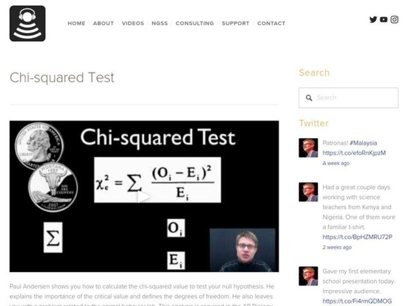 Chi-squared Test Video