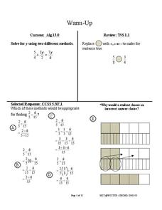 Lowest Common Multiple through the Grades Lesson Plan