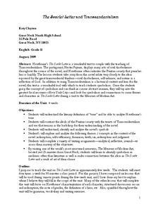 the scarlet letter and transcendentalism unit for 11th 12th grade lesson planet. Black Bedroom Furniture Sets. Home Design Ideas