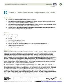 Chance Experiments, Sample Spaces, and Events Lesson Plan