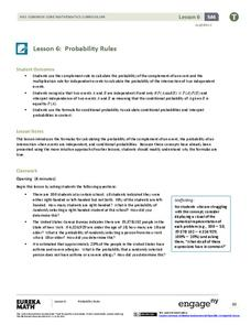 Probability Rules (part 1) Lesson Plan