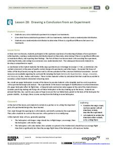 Drawing a Conclusion from an Experiment (part 1) Lesson Plan