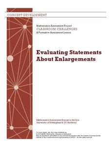 Evaluating Statements About Enlargements Lesson Plan
