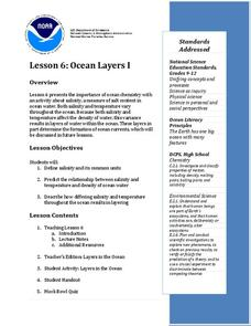 Ocean Layers I Lesson Plan