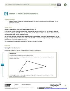 Points of Concurrencies Lesson Plan