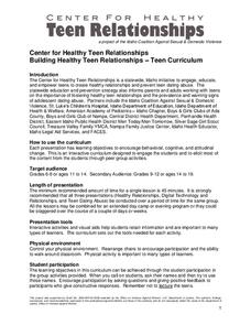 Teen Relationships Lesson Plan