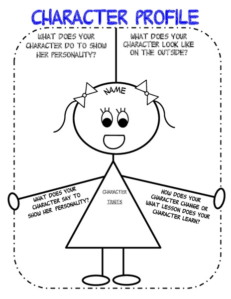 Character Profile (Girl) Graphic Organizer