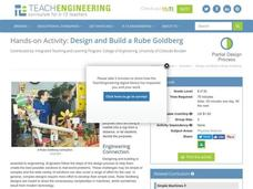 Design and Build a Rube Goldberg Activities & Project