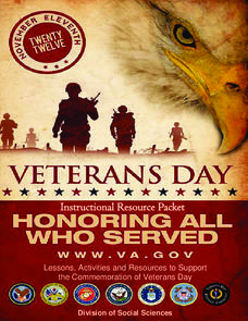 Veteran's Day—Honoring All That Served Unit