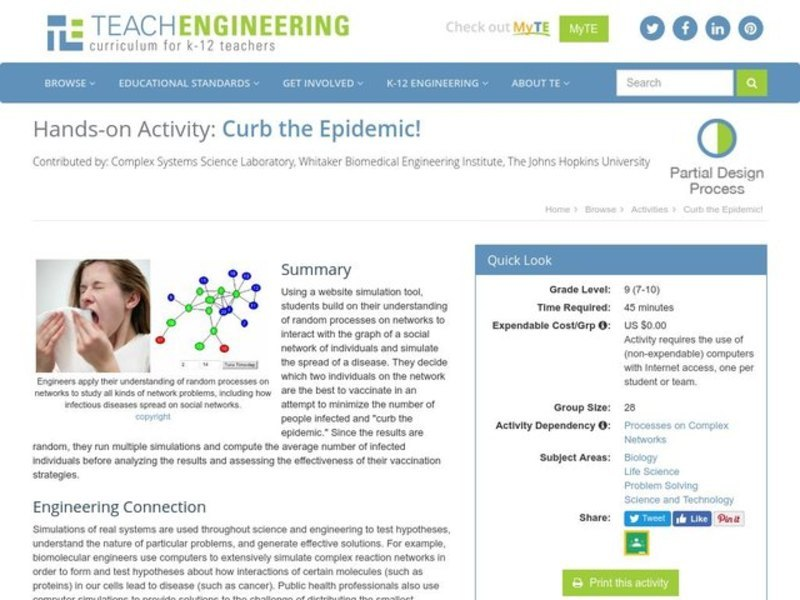 Curb the Epidemic! Activities & Project