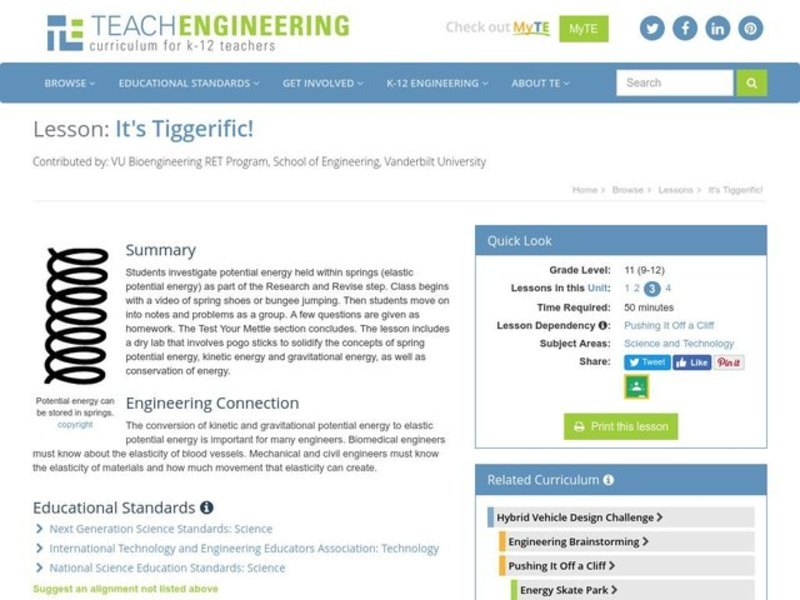 It's Tiggerific! Lesson Plan