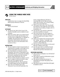 Using the World Wide Web Lesson Plan