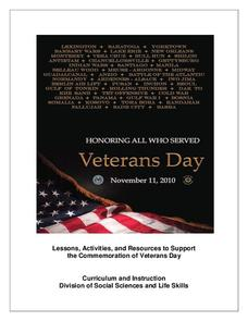 Honoring All Who Served Veterans Day Activities & Project