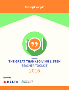 The Great Thanksgiving Listen Lesson Plan