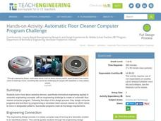 Automatic Floor Cleaner Computer Program Challenge Activities & Project