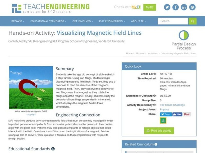Visualizing Magnetic Field Lines Activities & Project