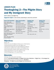Thanksgiving 2—The Pilgrim Story and My Immigrant Story Lesson Plan