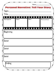 Personal Narrative: Tell Your Story Graphic Organizer for ...