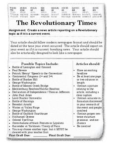 The Revolutionary Times Writing Prompt