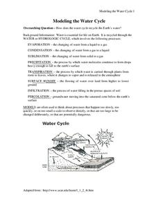 Modeling the Water Cycle Activities & Project