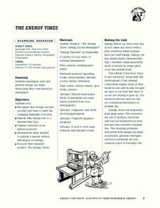 The Energy Times Lesson Plan