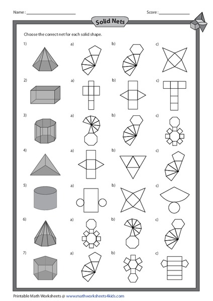 3 D Geometric Solids Lesson Plans & Worksheets Reviewed by