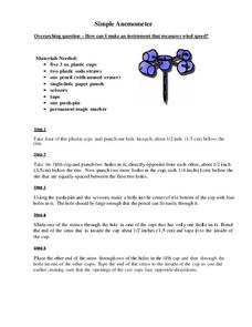 Simple Anemometer Activities & Project