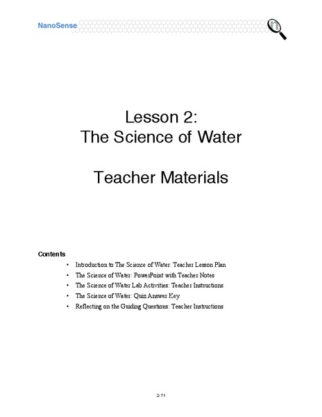 Science of Water Lesson Plan