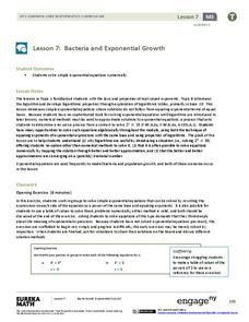 Bacteria and Exponential Growth Lesson Plan