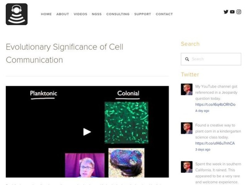Evolutionary Significance of Cell Communication Video