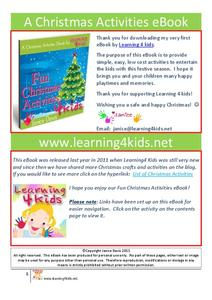 A Christmas Activities eBook Activities & Project