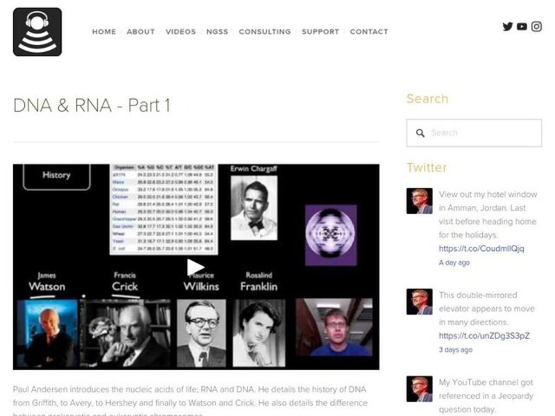 DNA and RNA - Part 1 Video