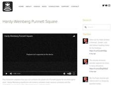 Hardy-Weinberg Punnett Square Video