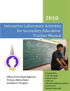 Interactive Laboratory Activities for Secondary Education Activities & Project