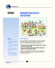 Renewable Energy Sources - Solar and Wind Activities & Project