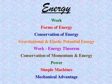 Energy, Work, Simple Machines Presentation