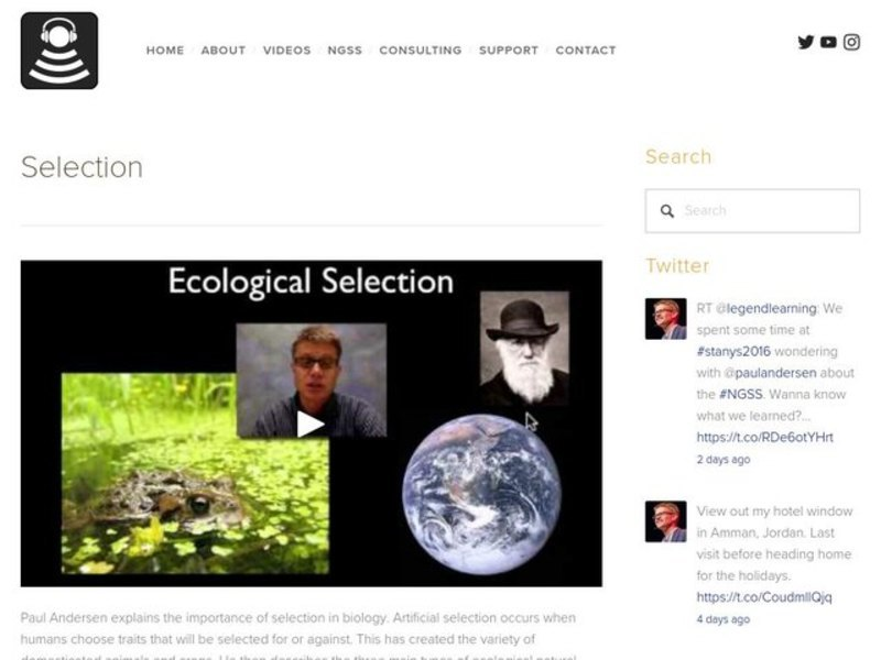 Ecological Selection Video
