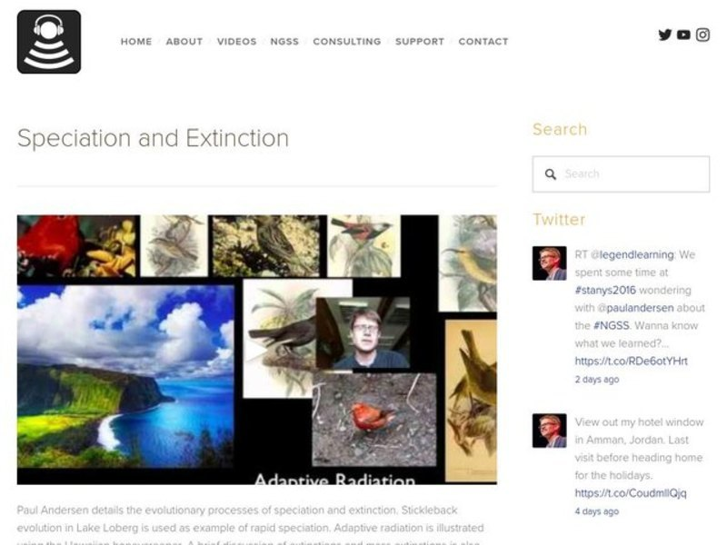 Speciation and Extinction Video