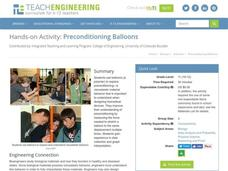Preconditioning Balloons Activities & Project