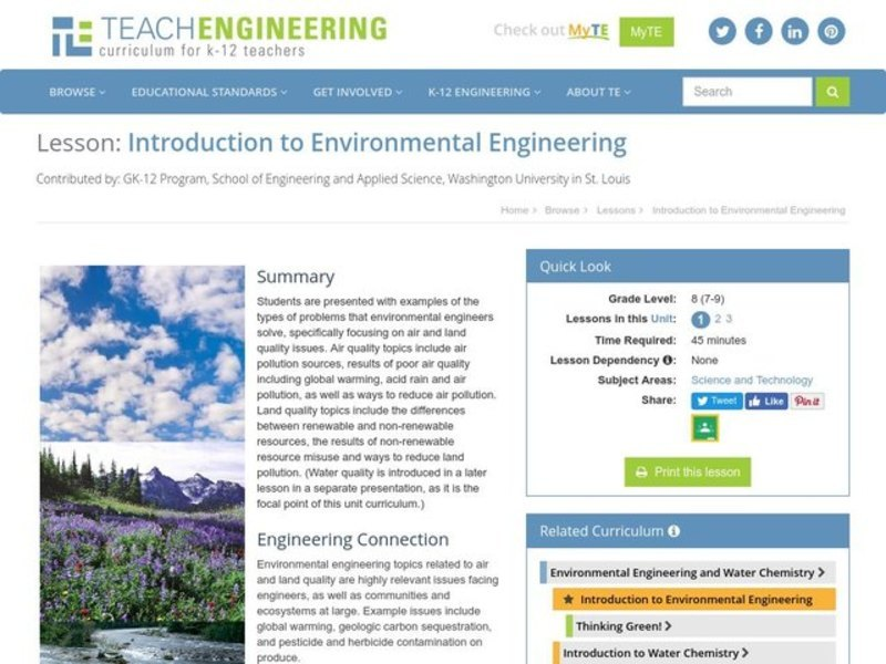 Introduction to Environmental Engineering Assessment