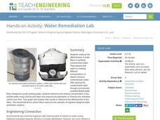 Water Remediation Lab Activities & Project