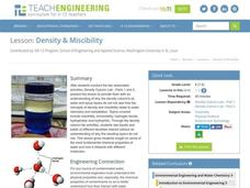 Density and Miscibility Lesson Plan